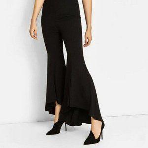 Zara Womens 8 Black Asymmetric Leather High Heels